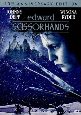 Edward Scissorhands - Amazing movie with such a heartfelt story! The first of so many Depp/Burton masterpieces.: Film, Johnny Depp, Dust Jackets, Edwardscissorhand, Favorite Movies, Edward Scissorhands, Tim Burton, Book Jackets, Scissorhands 1990
