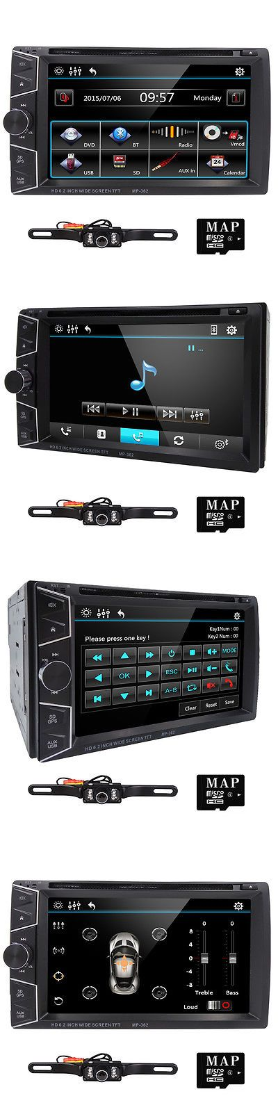Vehicle Electronics And GPS: Camera+6.2 2 Double Din Car Dvd Player Gps Navigation Bluetooth Radio Stereo -> BUY IT NOW ONLY: $119.99 on eBay!