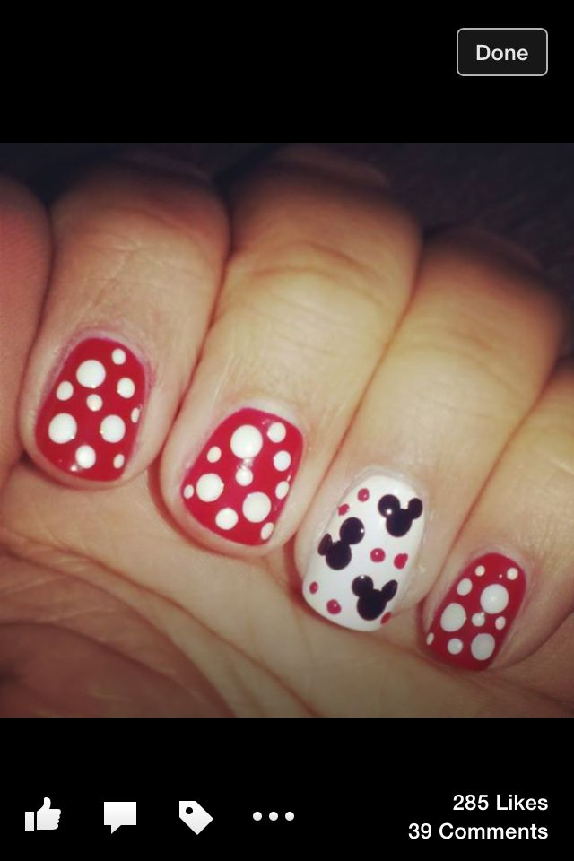 #nails #disney #manicure