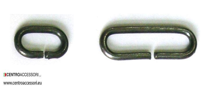 Passanti ovali 1260. Metal oval rings 1260. #CentroAccessori