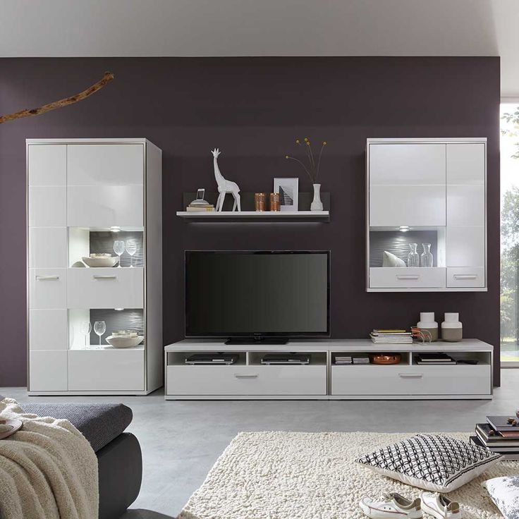 Более 10 лучших идей на тему «Schrank weiß hochglanz» на Pinterest - moderner wohnzimmerschrank mit glastüren und led beleuchtung