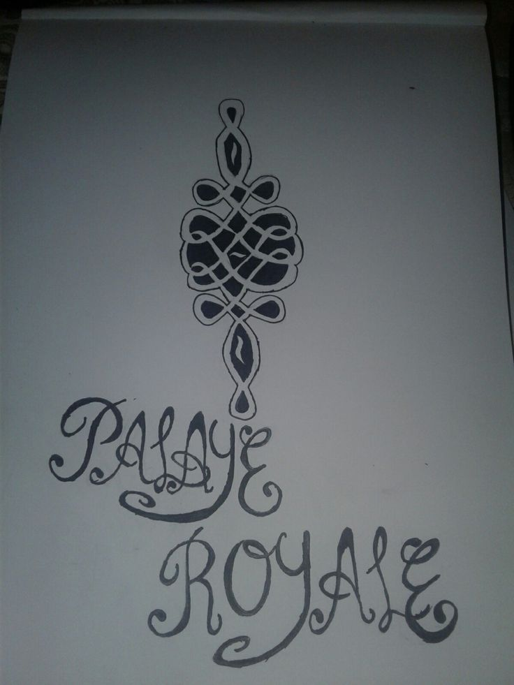 I drew the logo for Palaye Royale  My drawings and stuff  Palaye royale Home decor Drawings