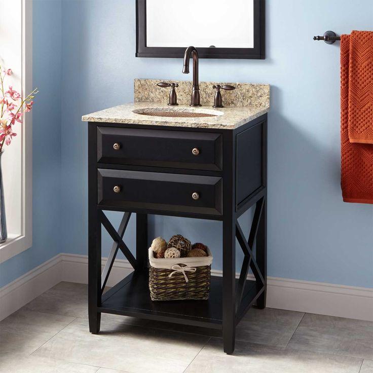 24 quot  Glympton Vanity for Undermount Sink   Black   Bathroom Vanities   Bathroom. 17 Best ideas about Black Bathroom Vanities on Pinterest   Black