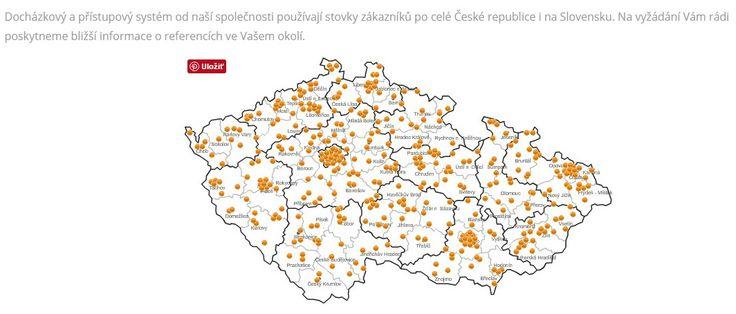 # docházkový systém  Docházkový a přístupový systém od naší společnosti používají stovky zákazníků po celé České republice i na Slovensku. Na vyžádání Vám rádi poskytneme bližší informace o referencích ve Vašem okolí.