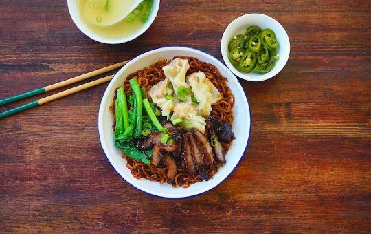 wonton noodles rice noodles noodle noodle singapore food malaysian ...