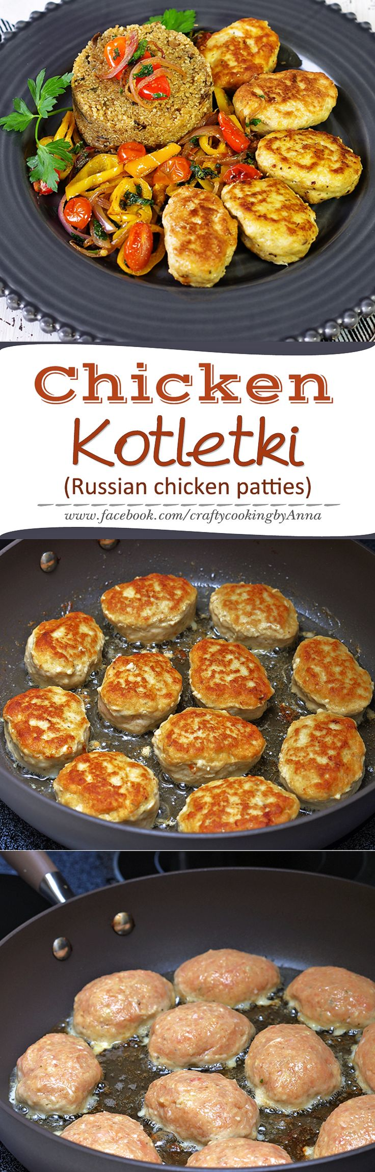 Chicken Kotletki (Russian Style Chicken Patties) #Delicious #Kid-Friendly