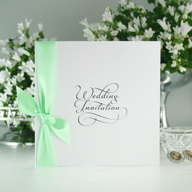 Classic Mint Wedding Invitations