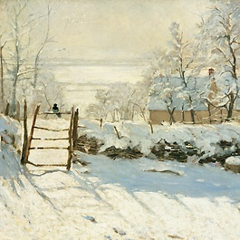 The Magpie, painted around 1868-1869 by Claude Monet (1840-1926)