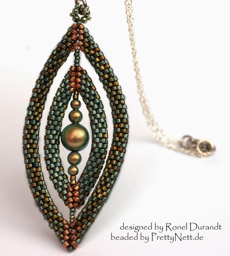 Pretty Nice - unique handmade beaded jewelry: Oval portal - Pendant Pendant