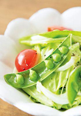 春キャベツと新玉ねぎの温野菜サラダ