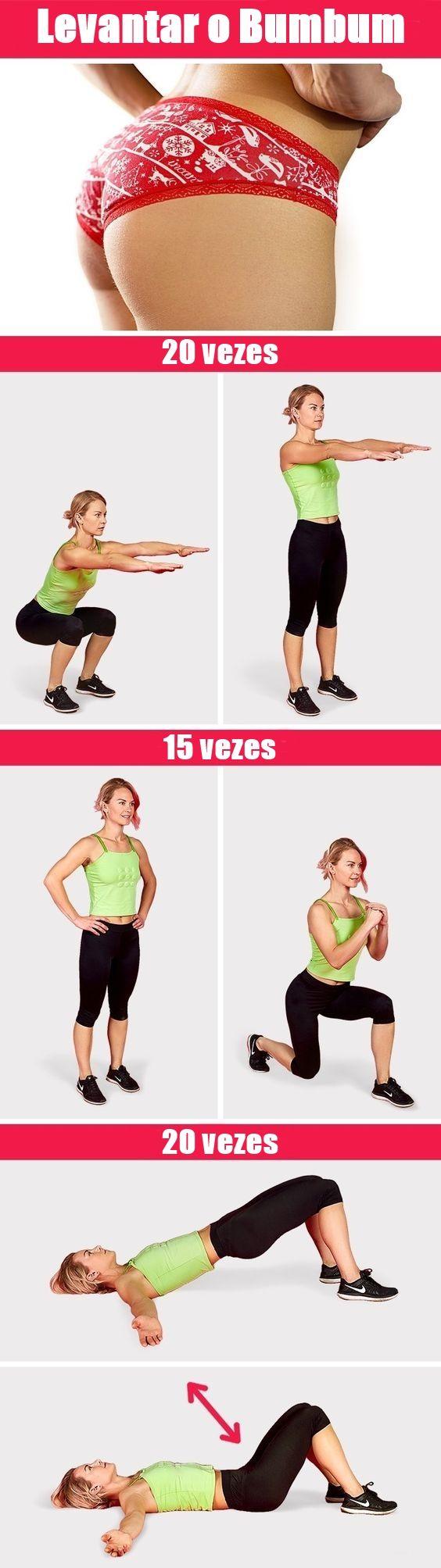 Os 6 Exercícios Para Levantar o Bumbum em Casa  #dicas  #adelgazar  #diet  #dieta  #saude  #health  #salud