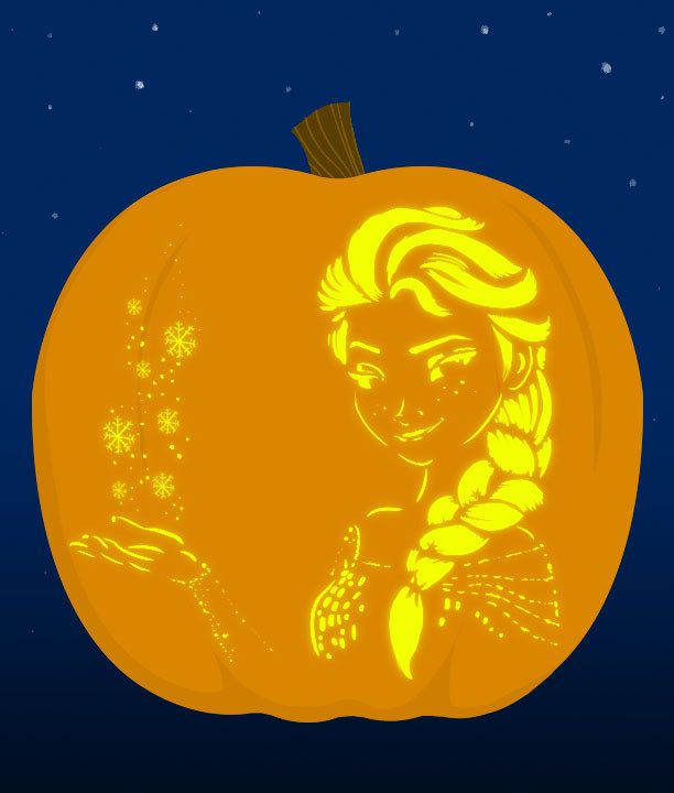 7. Elsa submitted by elsa. | 18 Insanely Clever Pop Culture Stencils To Up Your Pumpkin Carving Game