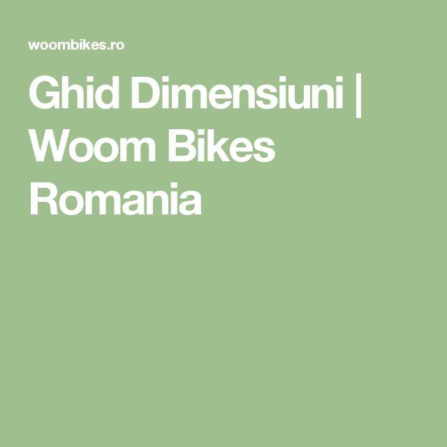 Ghid Dimensiuni | Woom Bikes Romania