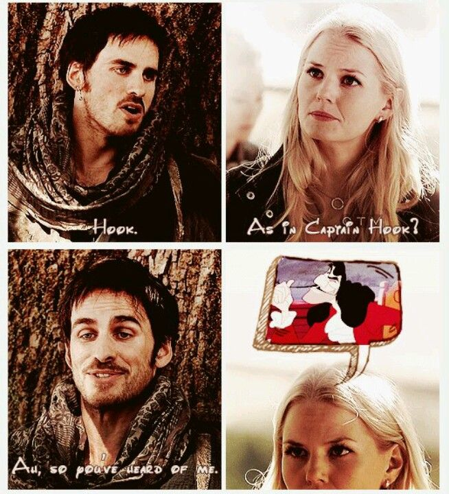 Captain hook and Emma.