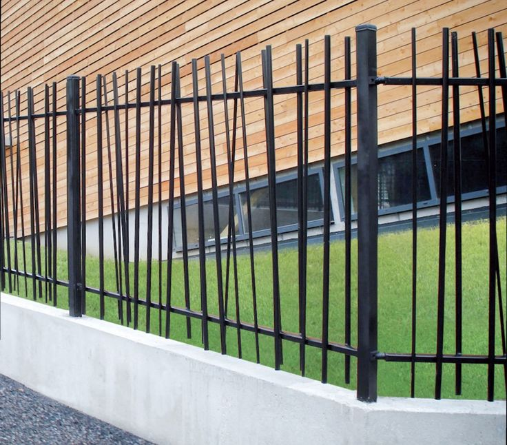 wrought iron fence panels modern