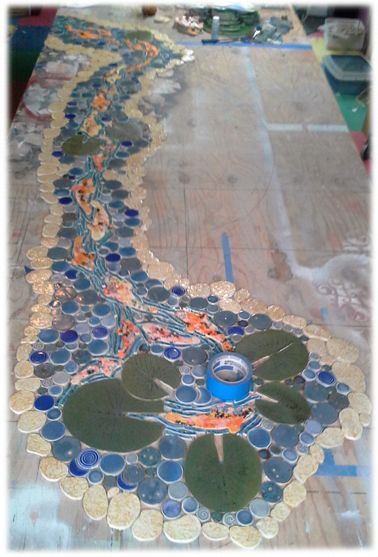 42 best koi handmade koi ceramic mosaic tiles images on for Koi fish bathroom decorations