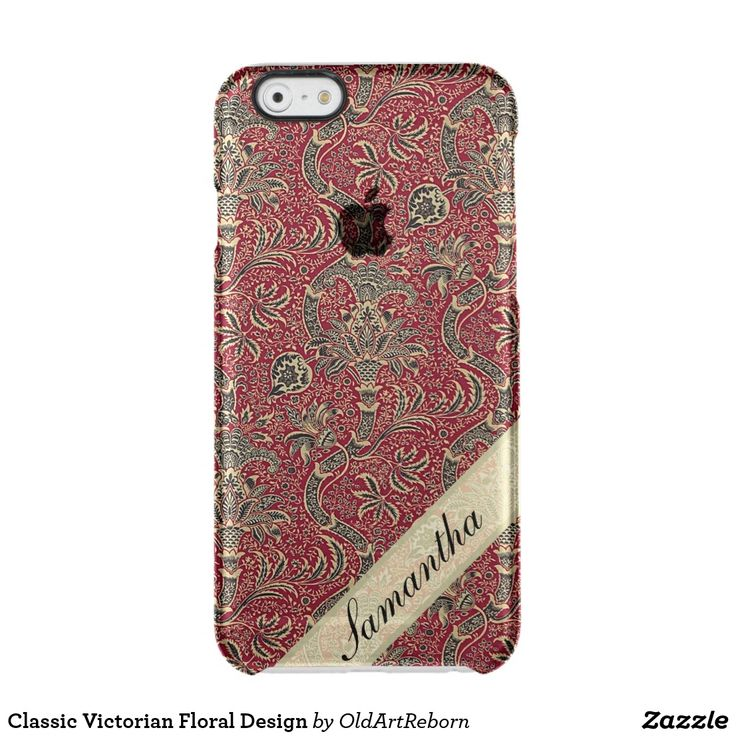 Classic Victorian Floral Design Clear iPhone 6/6S Case
