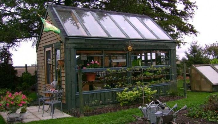 Grow Food All Year Long: Recycled Patio Door Greenhouse Project. This is awesome!
