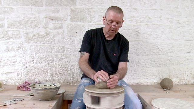 Jim Malone lives and works in the beautiful and remote Cumbrian countryside. Our film provides a rare insight into the working life of one of Britain's most respected potters. Malone talks about his throwing and glazing techniques as well as the decorating of pots in the traditional Korean style (Hakeme). he fires alone over a 24 hour period. To see his work visit: http://www.goldmarkart.com/ceramics/potters/jim-malone.html