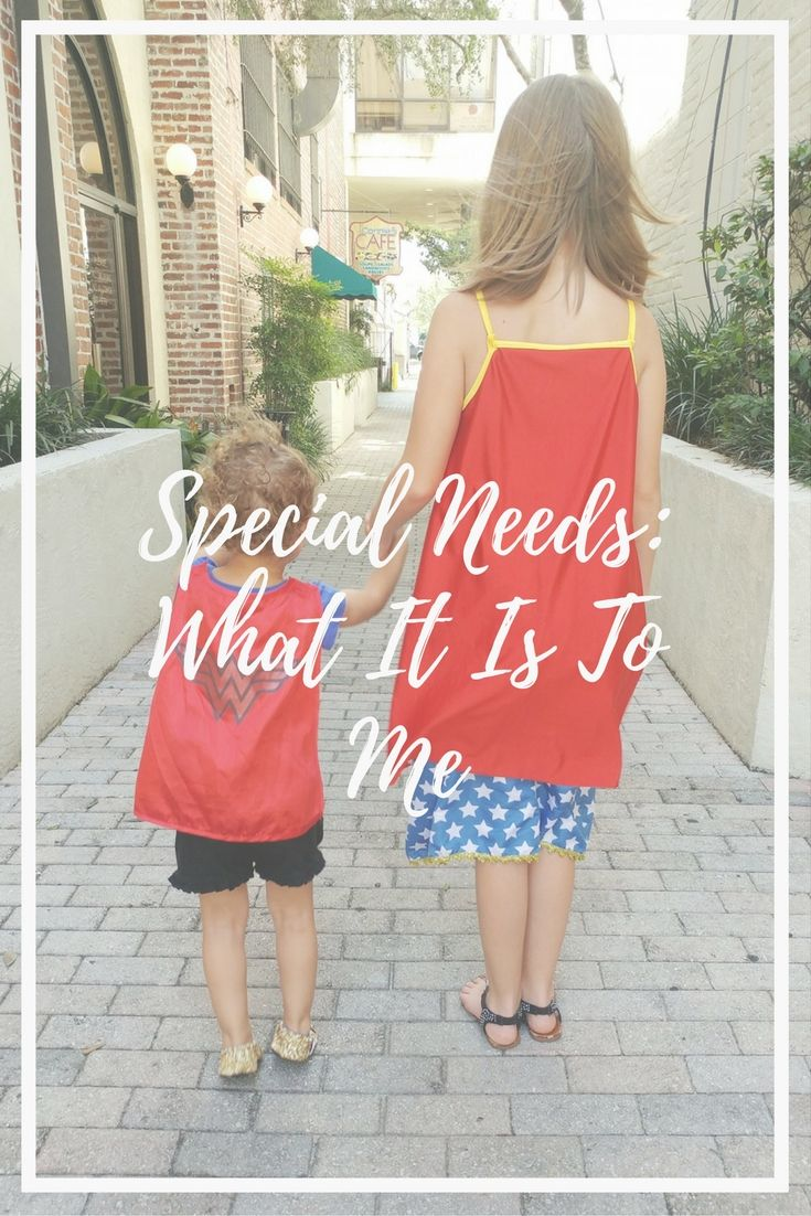Special needs can mean so many things, and can be so daunting to some. What it is to me is something a bit different, though. Read more here..