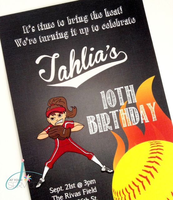 Softball Birthday Party Ideas | Photo 1 of 35