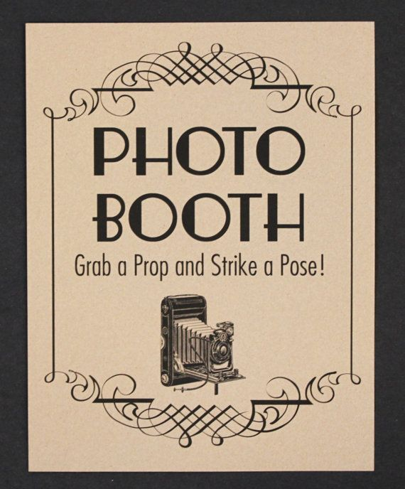 Photo Booth Sign. Photo Booth Prop. Photobooth by LittleRetreats, $7.00