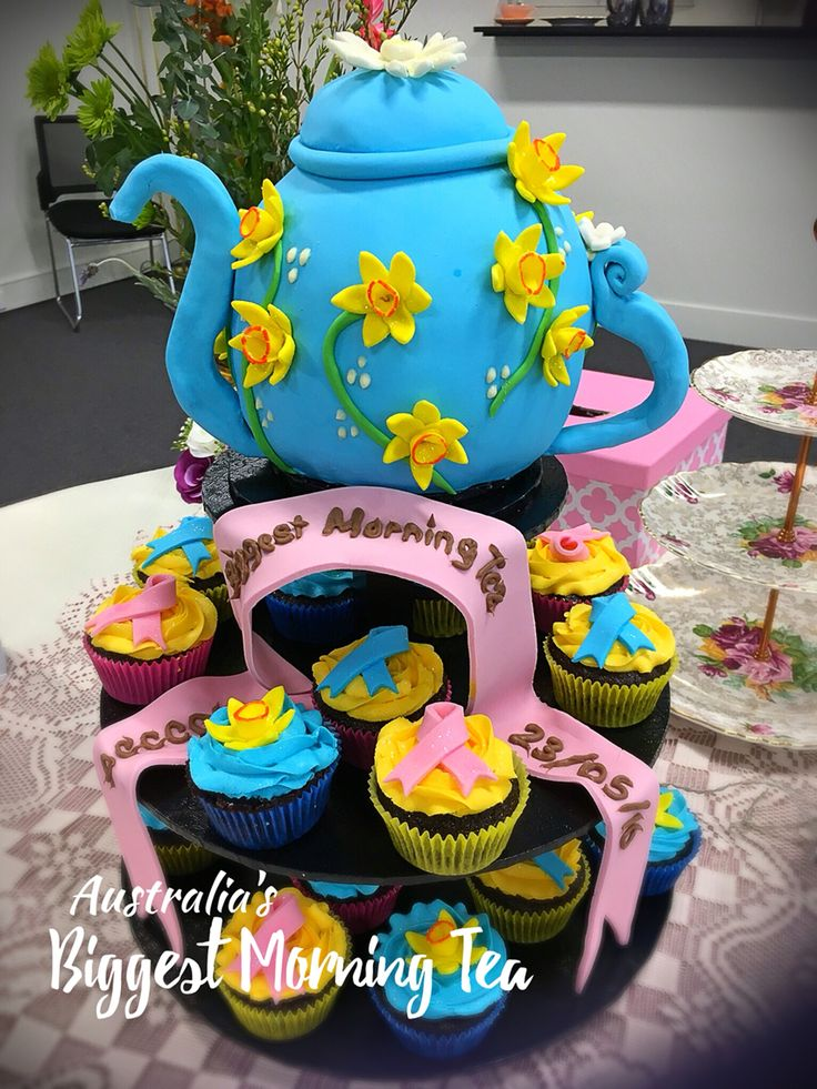 Australia biggest morning tea.  Teapot cake