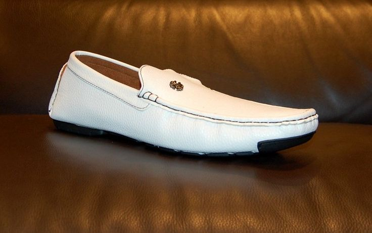 Reverse Men's White Loafer Shoes Driving Moccasins Sz 12 NEW #Reverse #LoafersSlipOns