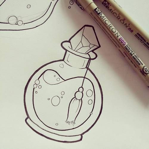 Image result for potion bottles drawing