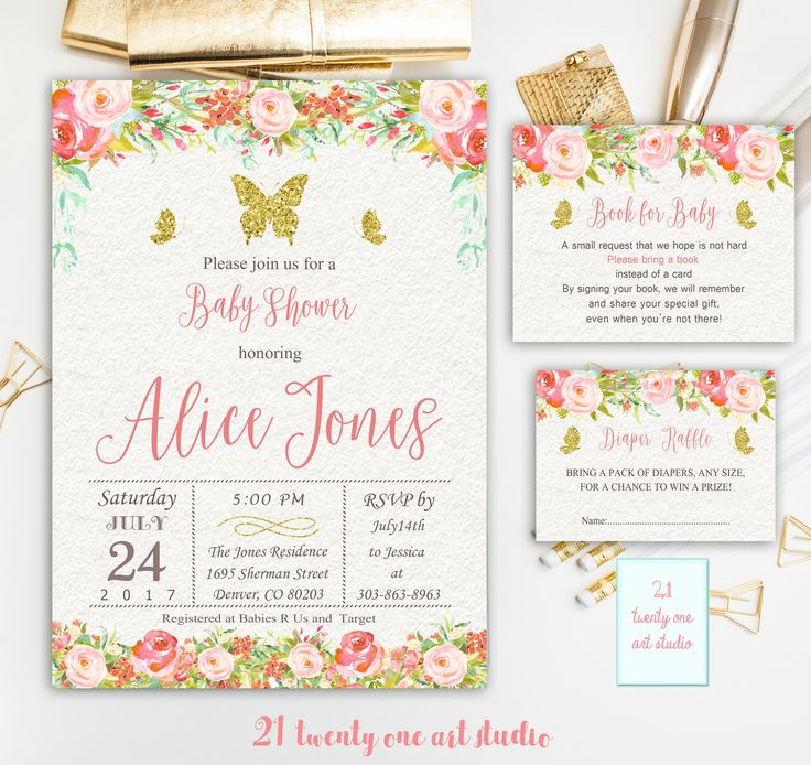 The 25 best butterfly invitations ideas on pinterest butterfly butterfly baby shower invitation book for baby diaper raffle floral butterfly invite stopboris Images