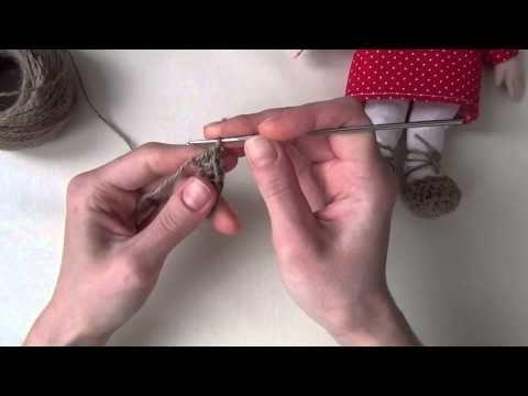 Как я вяжу лапти для домовенка Кузи - YouTube