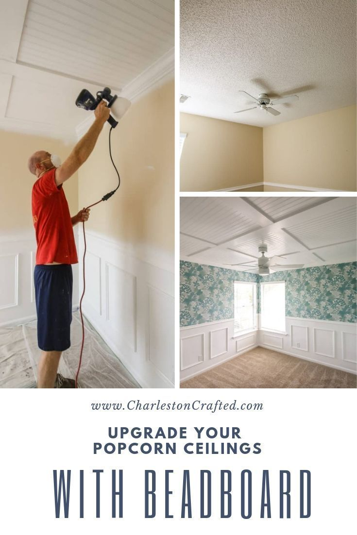 Diy Coffered Ceiling Popcorn Ceiling Covering Popcorn Ceiling