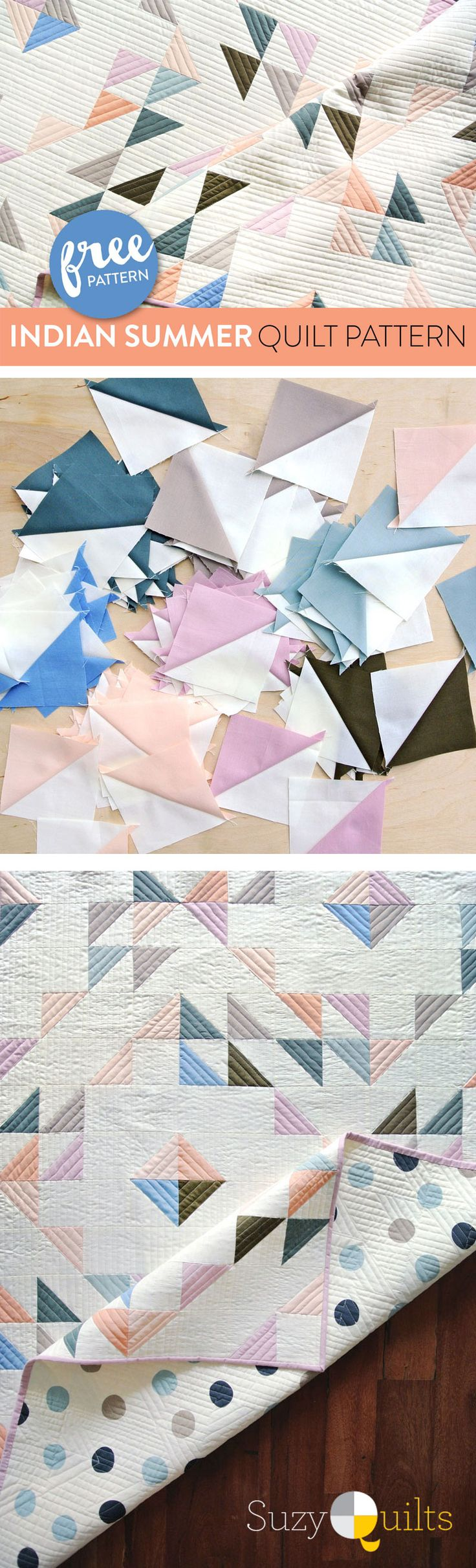 FREE simple, minimal modern quilt pattern. A great quilt pattern for a newbie quilter!