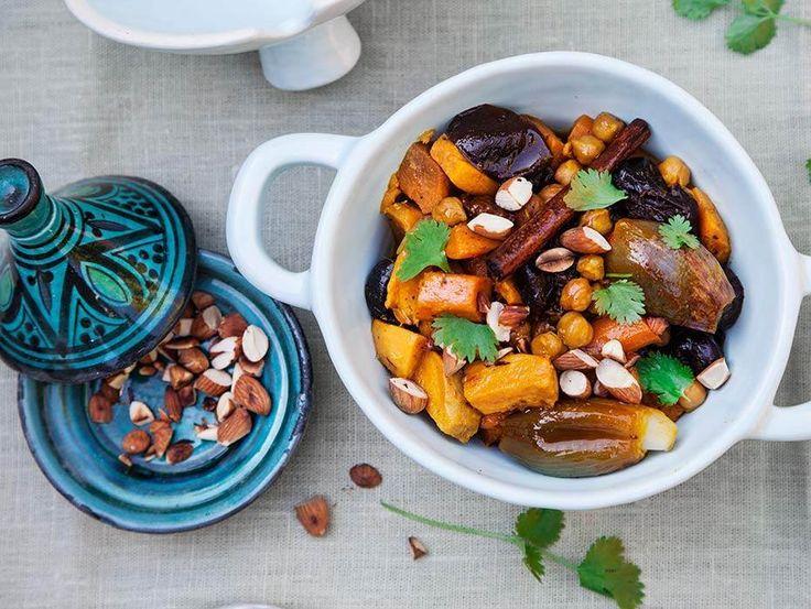 Snabblagad vegotagine med härliga smaker från Marocko.