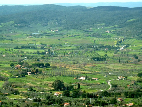 View from Gavorrano Maremma Tuscany.