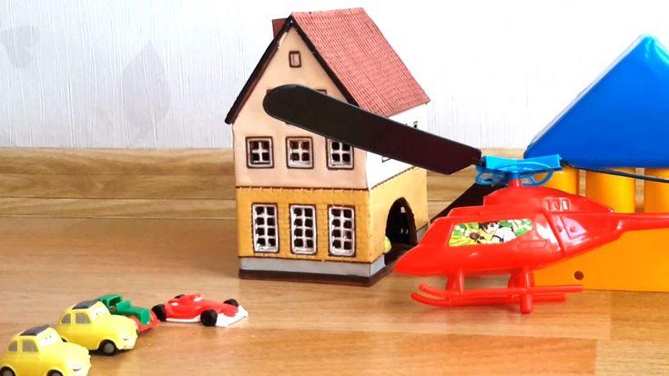 Мультик про игрушечные машинки и вертолет. Детские игрушки