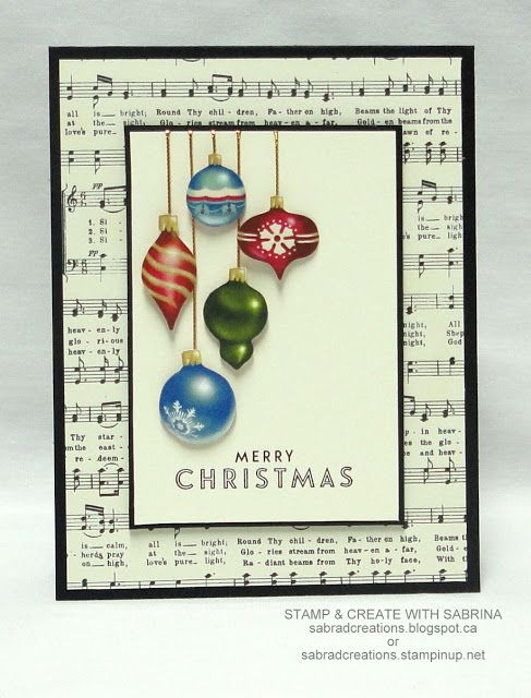 Stamp & Create With Sabrina: Home For Christmas DSP Cards - #4, 5 & 6