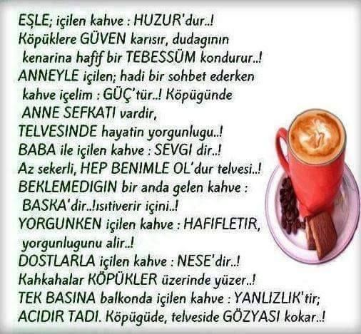Eşle içilen kahve...