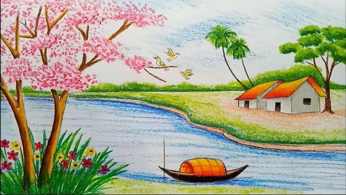 1001 Images Inspiratrices De Dessin De Paysage Magnifique Dessin Paysage Comment Peindre Dessin