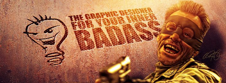 Badass logo and Facebook cover designed by Aaron Thompkins
