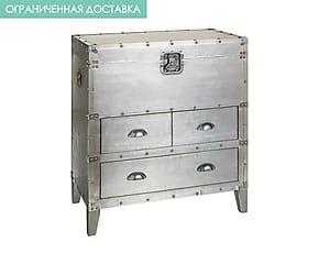 Комод INDUSTRIAL - МДФ, металл - серебристый - В81,Д70,Ш40
