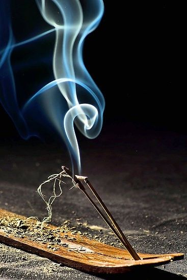 Incense  smoke...we use incense in our spiritual practices and ceremonies...but also for space clearing in Fung Shui.