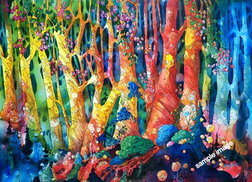 Barry tate acrylic all art that i love pinterest for Painting a forest in acrylics