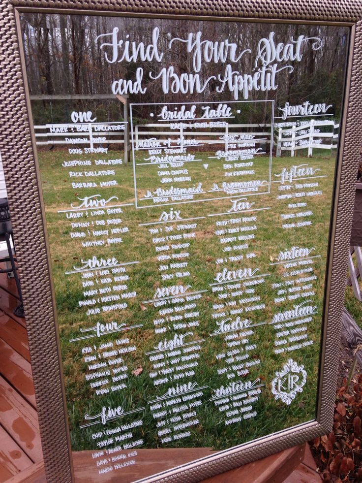 Find Your Seat And Bon Appetit Wedding Seating Charts On