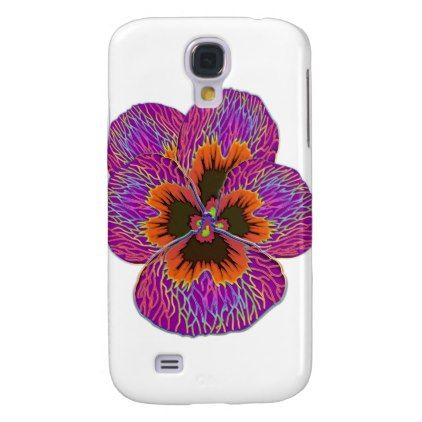 #Pansy Flower Psychodelic Abstract Samsung Galaxy S4 Case - #flower gifts floral flowers diy