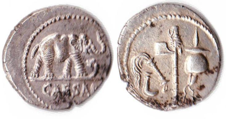 Julius Caesar 49-44 BC Silver denarius,