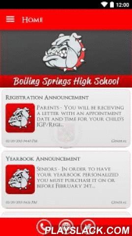 Boiling Springs High School  Android App - playslack.com ,  The Boiling Springs High School app by SchoolInfoApp enables parents, students, teachers and administrators to quickly access the resources, tools, news and information to stay connected and informed!The Boiling Springs High School app by SchoolInfoApp features:• Important news and announcements• Teacher notifications• Interactive resources including event calendars, maps, a contact directory and more• Student tools including My ID…