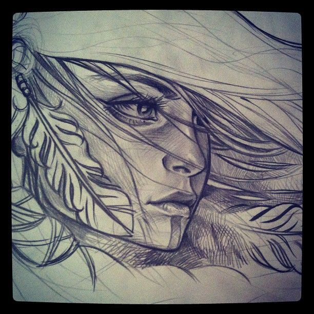 native american. drawing sketch for a tattoo im working on. $ repect other peoples tattoos. appreciate, dont duplicate $