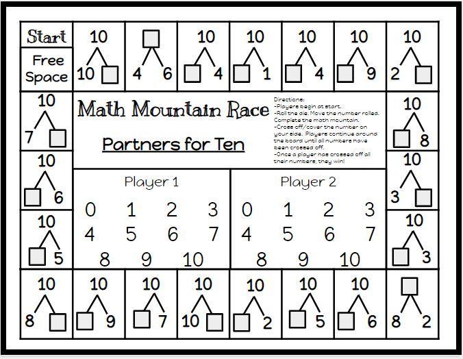 Math Mountain Race Game Board Classroom Freebies First Grade Math Elementary Math Classroom Math Games Math mountain worksheets 2nd grade