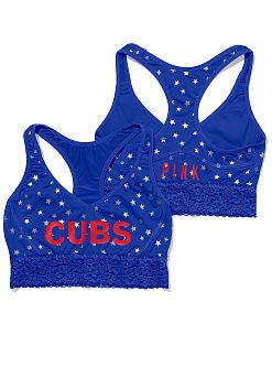 Chicago Cubs Lace Yoga Bra
